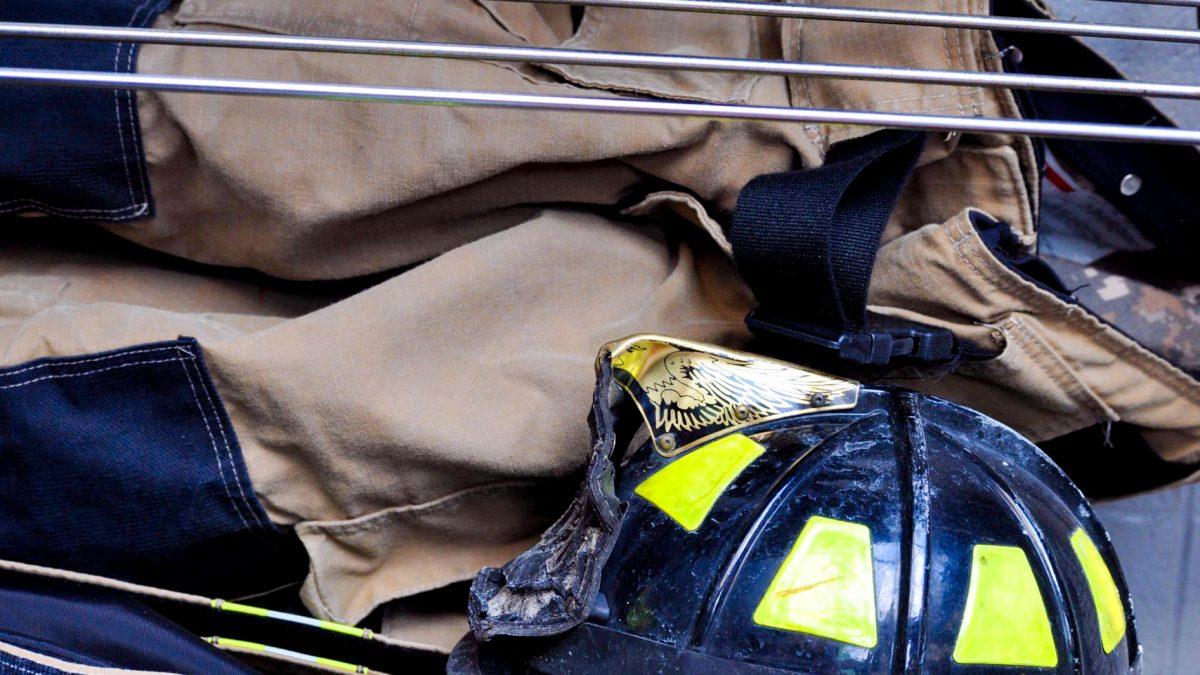 fireman's coat and hat
